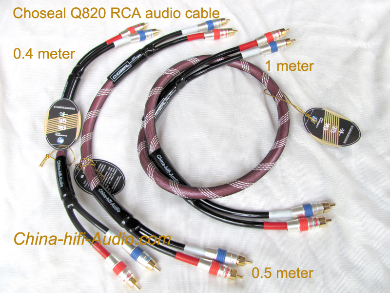 Choseal Q820 RCA audio cable Audiophile stereo interconnect hifi