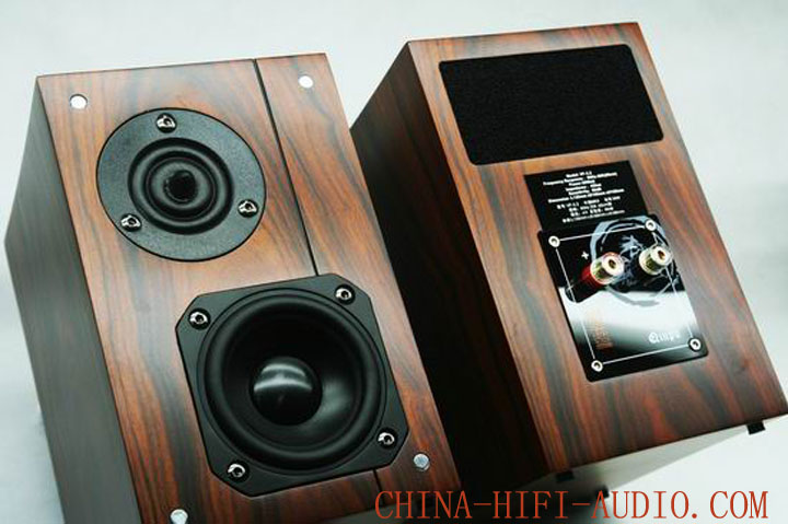 Qinpu VF-3.2 MKII tabletop speakers wood finish Chop pair