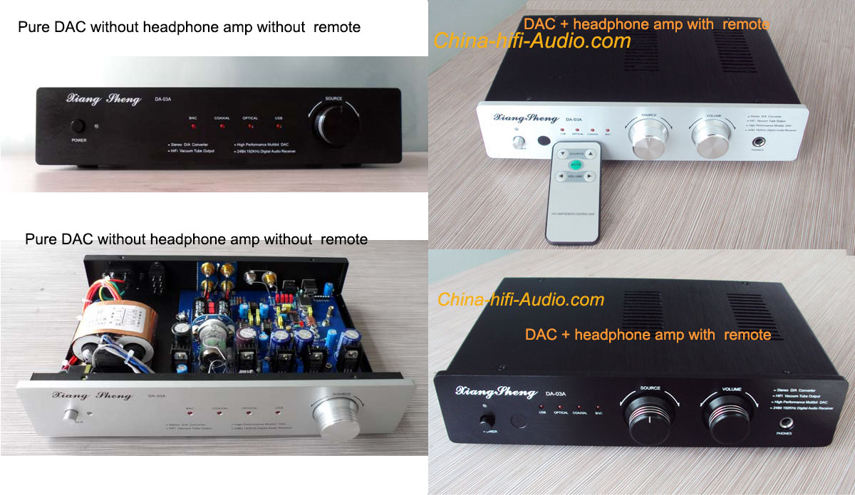 Xiangsheng DA-03A USB DAC tube headphone amp hifi Remote Control