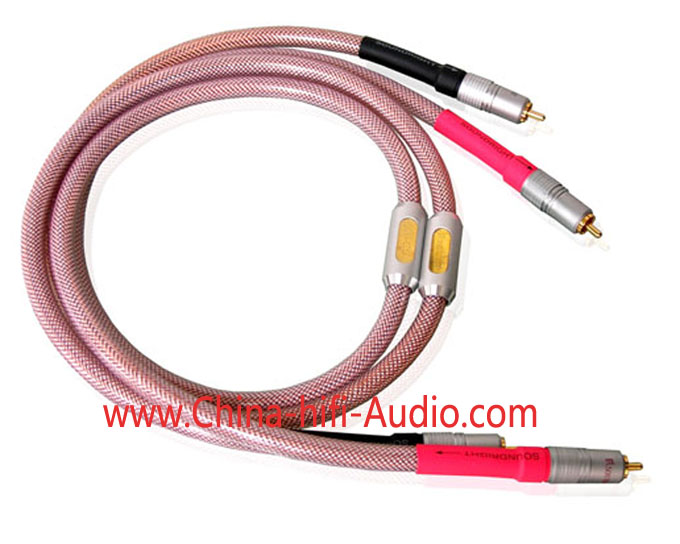 SoundRight SF-Gold RCA Audio Interconnect Cables pair 1 meter