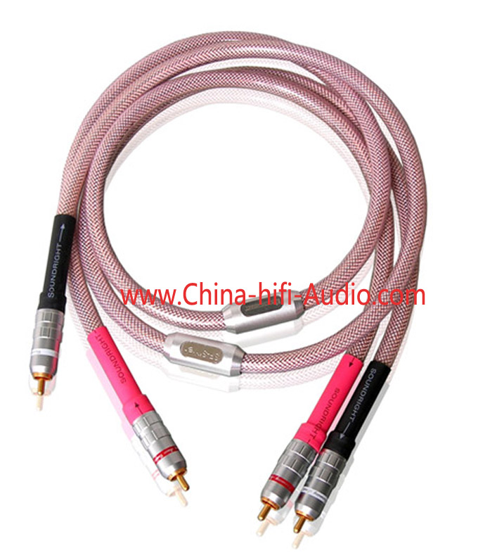 Xindak SoundRight SF-Silver RCA Interconnect Cables pair 1m