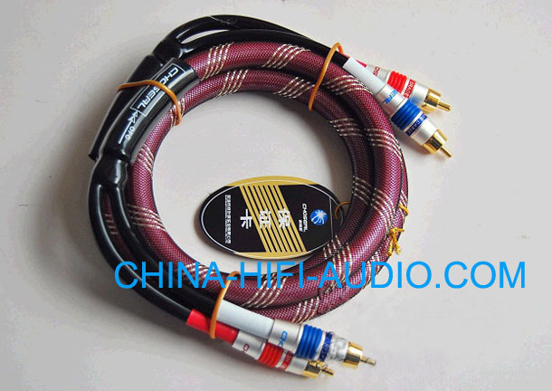 Choseal hifi Audio Interconnect RCA Cables pair 1 meter OD13mm