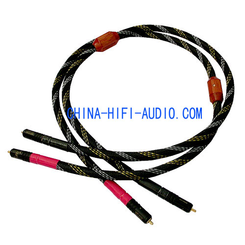 Xindak FA-Gold Audio Interconnects Cable Pair RCA Plug