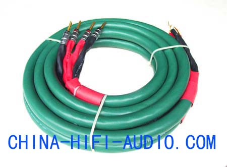 BADA High fidelity speakers cables with terminal OCC 5 stars