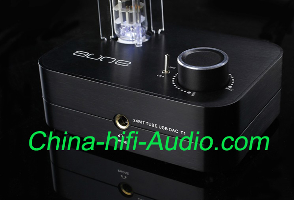 Aune mini audio high version T1 24BIT TUBE 6922 USB DAC black