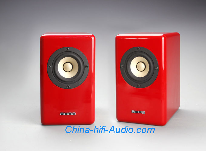 Aune X-3 Full Frequency speakers mini Loudspeakers a pair Red