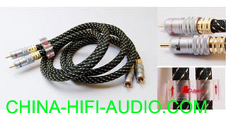 BADA HL2.8 high fidelity Audio Interconnect RCA cables