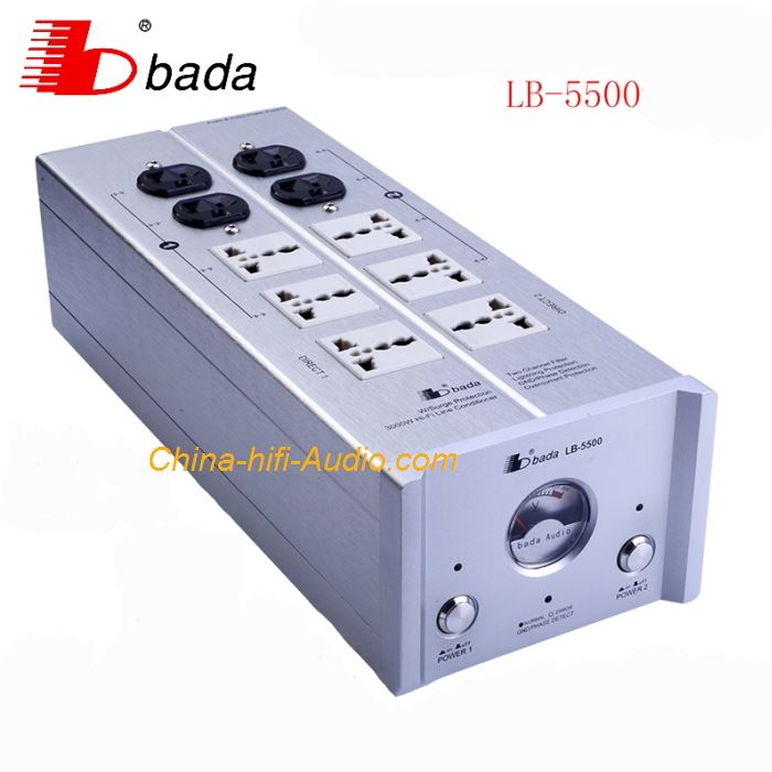 BADA LB-5500 high Power filter/purifier HiFi audio universal power socket EMI