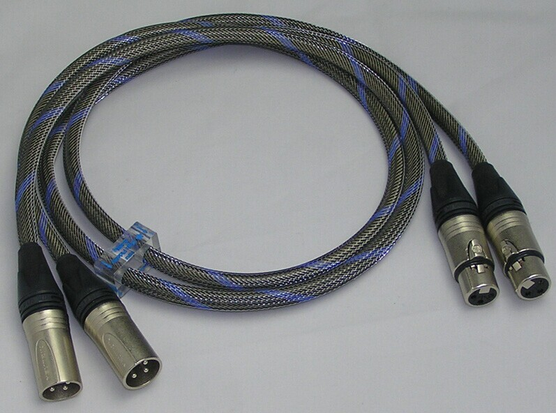Bada S-8BL Silver/SCC Hybrid audio balance XLR cables 1 meter pa