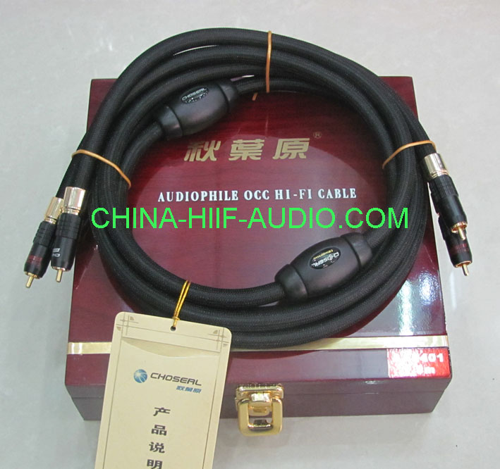 Choseal AA-5401 audio RCA plug Interconnects Cable 1.5m pair