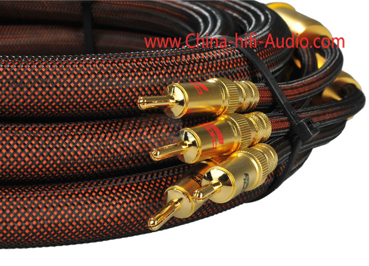 Choseal LB-5109 OCC Speakers Cable 3.5M banana plug OD=19mm pair