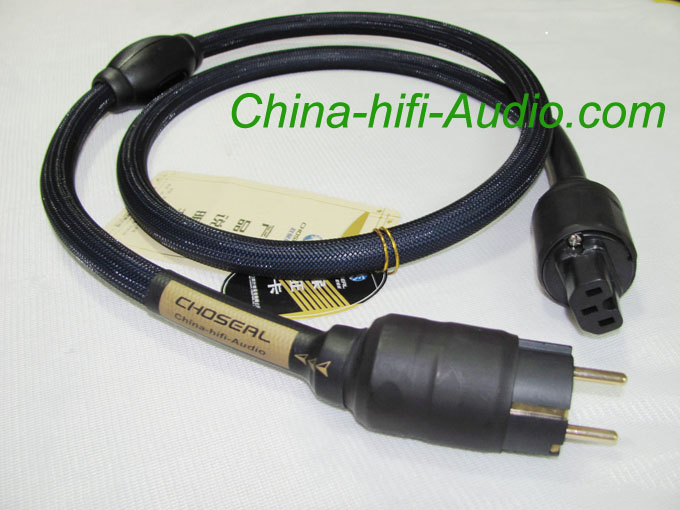 EURO plug Power Cable for Audiophile amplifier Choseal OCC cord