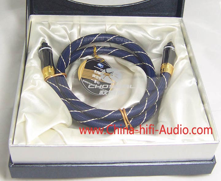 Choseal light ray optical fiber cable for hifi audio 1 meter OD=