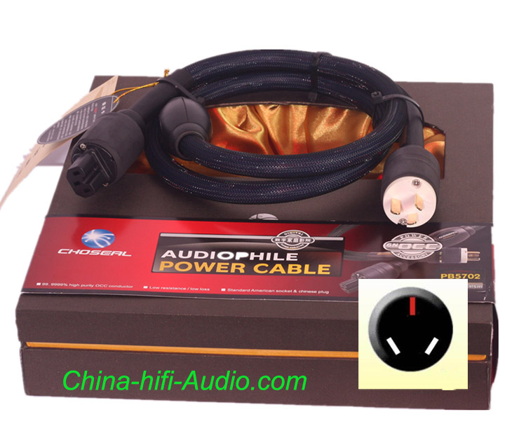 Choseal OCC Audiophile AC hifi Power Cable AU plug NZ CN AR plug