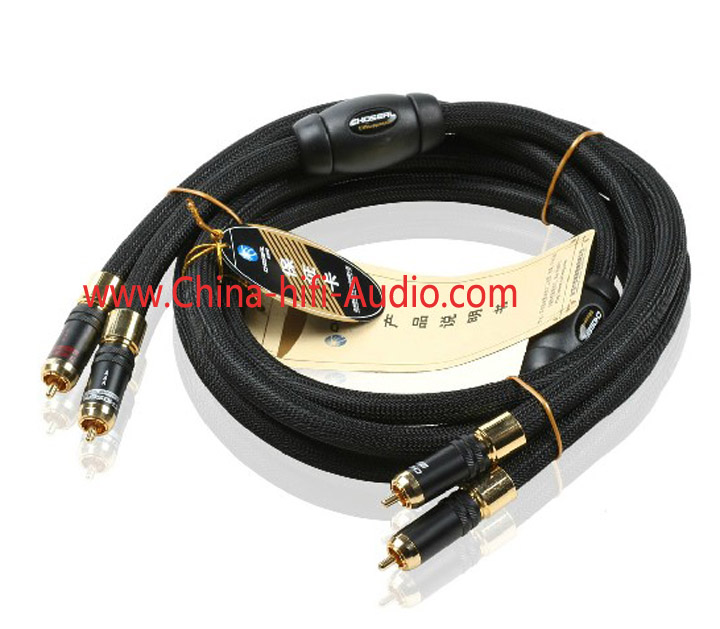 Choseal AB-5408 audio RCA plug Interconnects Cable 1.5m pair