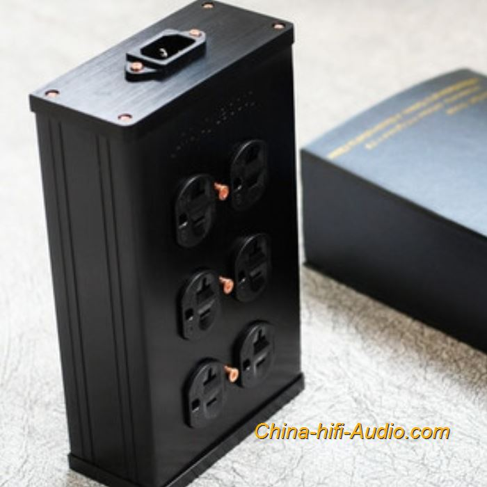 Copper Colour CC B6-HE Hi-end HIFI power outlet Socket Gold-plated 6 US plugs