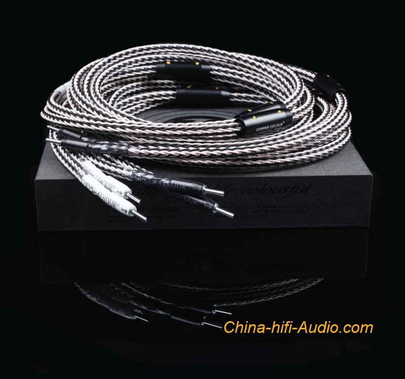 Copper Colour CC D16 HiFi audio speaker cord woven audiophile loudspeaker cable