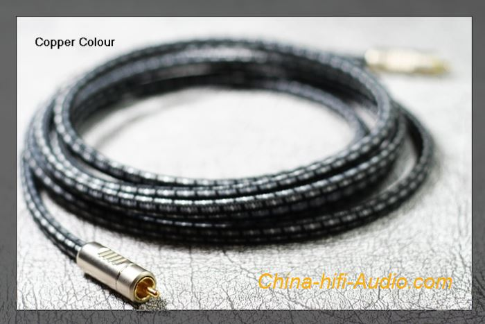 CopperColor OCC SUB-MOON Single crystal Copper Subwoofer interconnect cable