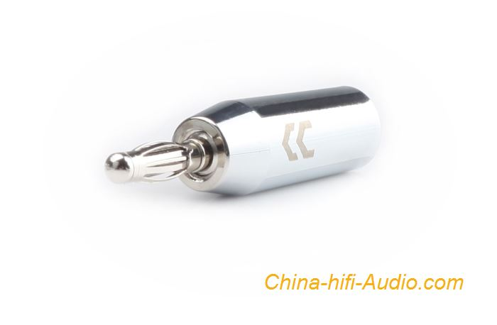 CopperColour Banana Plug OFC audiophile audio Copper Rhodium-plated connector