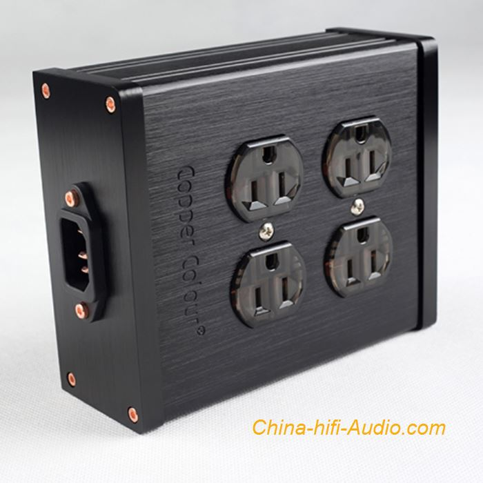 CopperColour CC 4-COPPER HiFi power Socket OFC 4-port output US Plug jack panel