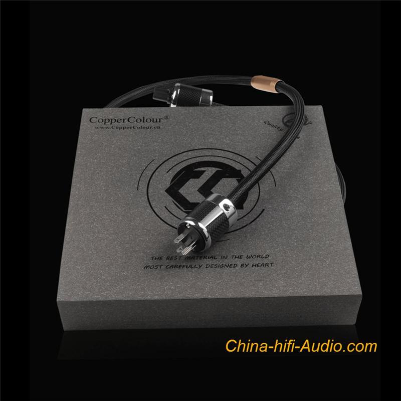 CopperColour CC ALPHA OCC hifi Audio power cable AU/AR/US/EUR Schuko Plug