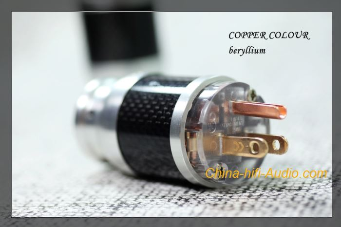 CopperColour CC US Power connector HiFi audio beryllium alloy carbon fiber plugs