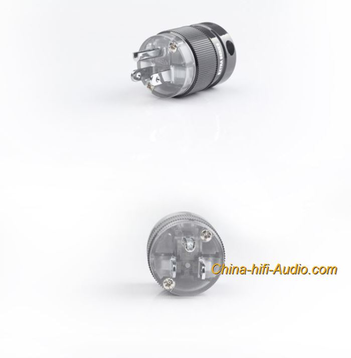 CopperColour CC US Power plug HiFi Audio pure copper Rhodium-plated connectors