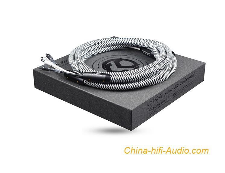 CopperColour CC Whisper III audiophile speaker cords HiFi loudspeaker cable Pair