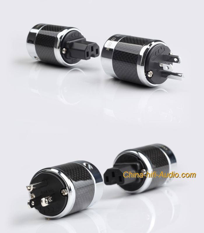 CopperColour CC US Hifi Power plug Beryllium alloy Rhodium-plated IEC connectors