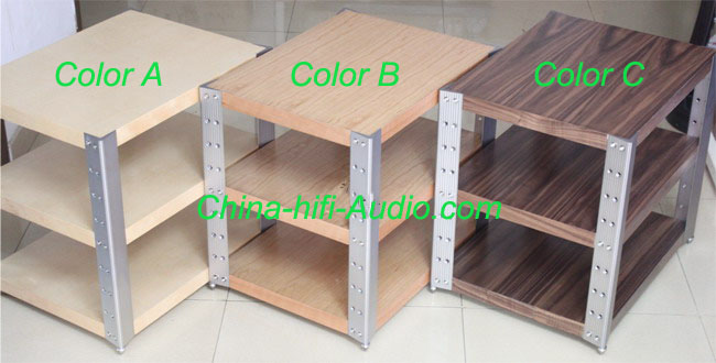 E&T 11-E630-A Hifi Audio Racks bookshelf Desk for amplifiers wood AL