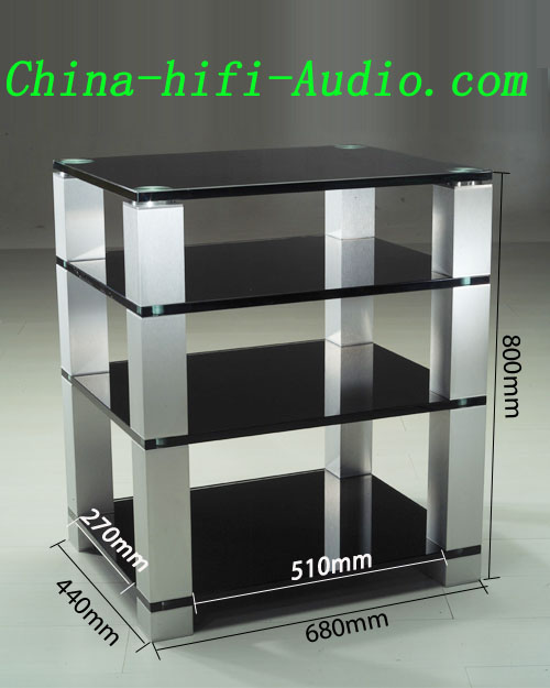 E&T HF684 Tempered Glass Cabinet Racks for Hifi Audio Equipments - Click Image to Close