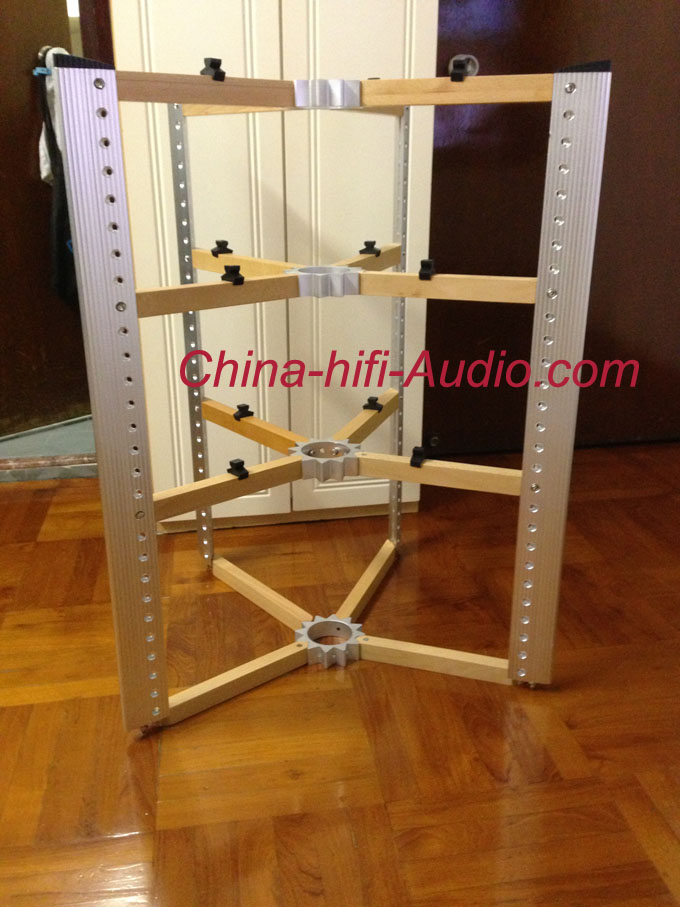 E&T 11-D600-4W1 wood Aluminum hifi equipments racks stands