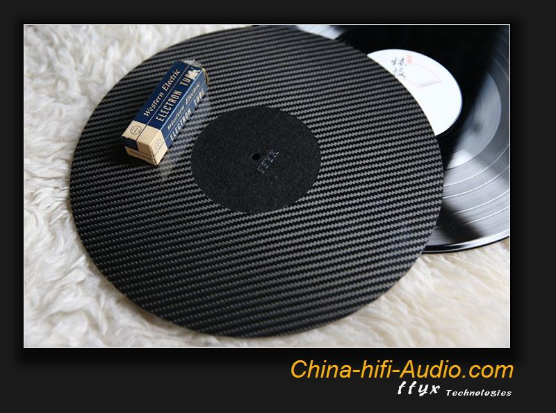 FFYX Turntable mat carbon fiber & High-density felt turntable disc pad