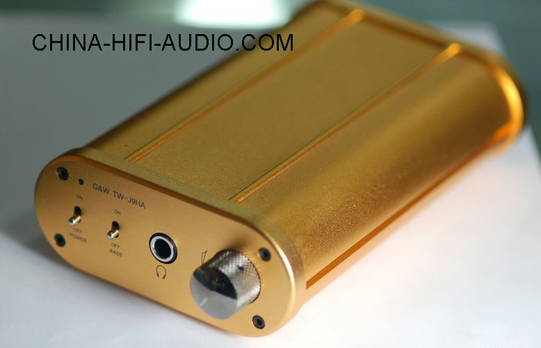 G&W Tsinghua TW-J9HA transistor headphones amplifier amp gold