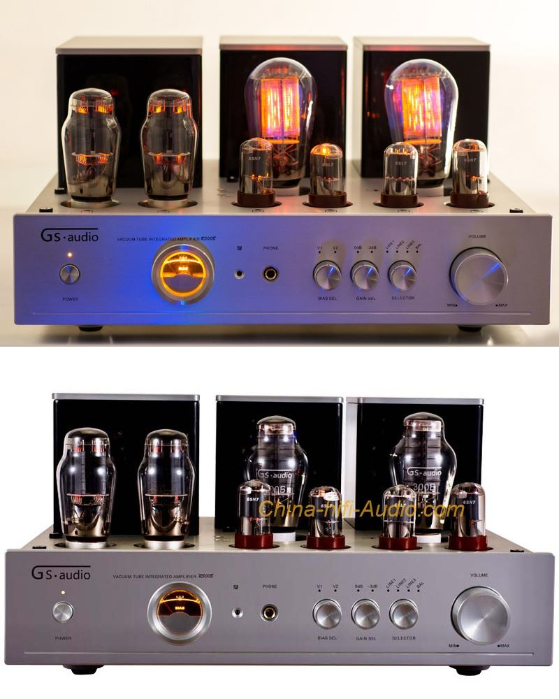 GS-AUDIO R-300B audiophile vacuum tube amplifier Class A single-ended 300B amp