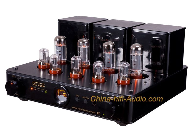 GS-AUDIO R8 EL34 vacuum tube amplifier hifi European export version amp black
