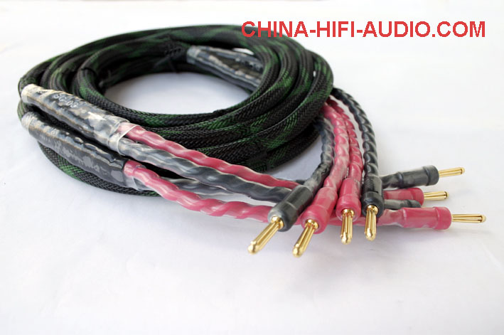 JungSon Beauty Deity Speakers loudspeaker cable banana plug pair