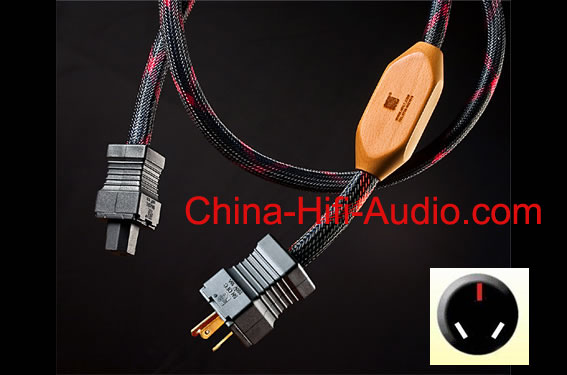 JungSon hifi audio Monitor Silver power cable AU Australian plug