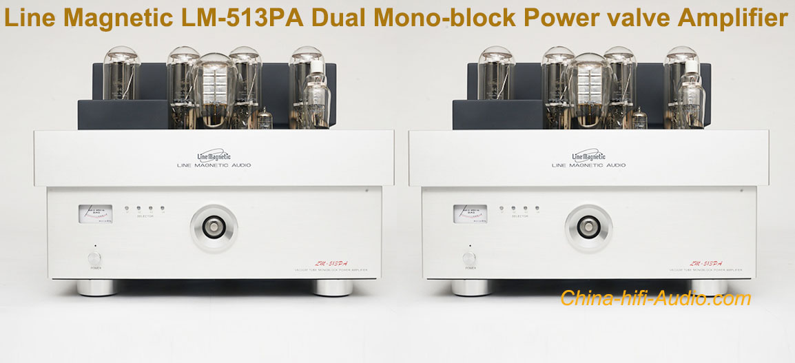 Line Magnetic LM-513PA Dual Mono-block Power valve Amplifier tube 300B 845*4