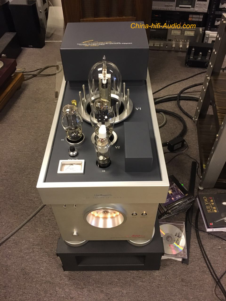 LineMagnetic LM-500PA 300B 212 Tube Class A single-end Dual Mono Power Amplifier - Click Image to Close