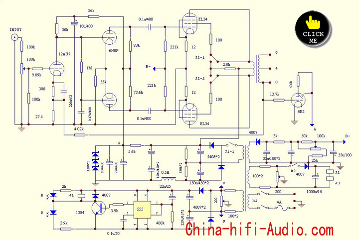 Class A Tube Integrated Amplifier El X Xd Mkiii on Schematic Circuit Diagram