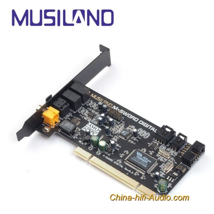 MUSILAND M-SWORD Multimedia digital times hifi audio Sound Card Dual Channel