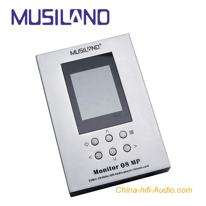 Musiland 08MP HD Audio Player External Sound Card DSD Player Aluminum shell