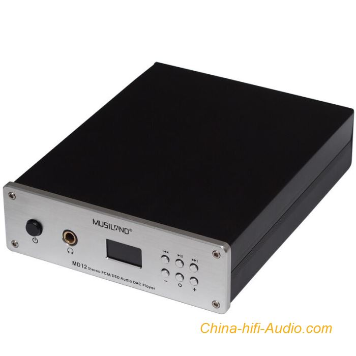 Musiland MD12 DAC Decoder Audio with Headphone Amplifier Fiber Coaxial DSD