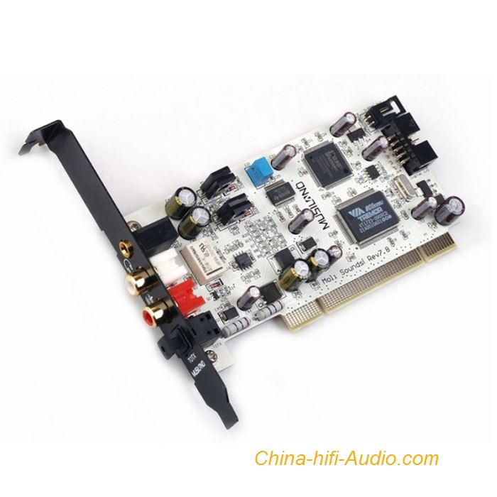 Musiland Moli HIFI Sound Card Dual Channel PCI Fiber DTS Dolby Digital AC-3