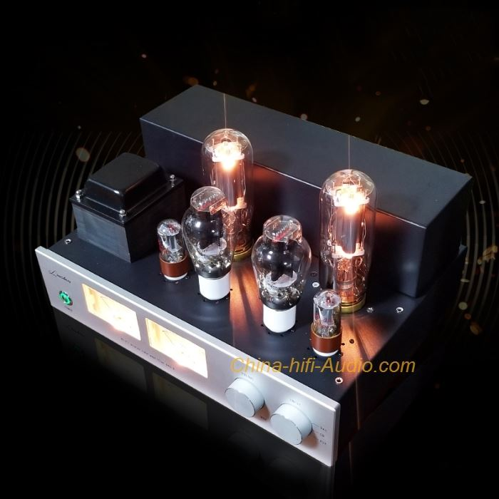 LaoChen 300B 845 Tube Amplifier Single-Ended Class A Amp with VU meter