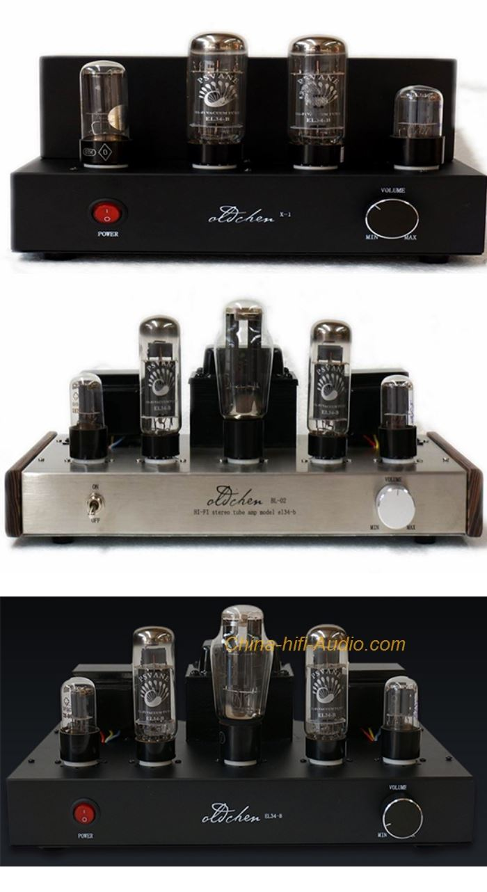 Oldchen EL34 Tube Amplifier HIFI Single-ended Class A handmade scaffolding Amp