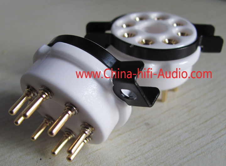 8 pins gold-plate tube socket ceramics mount for KT88 EL34 6550