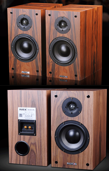 PAIYON P4-2.0 Hi-Fi Audio Bookshelf Loudspeaker Audiophile Passive Speakers Pair
