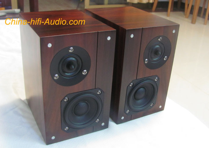 Qinpu Speakers VF3.5 loudspeakers tabletop hi-fi wood a pair new